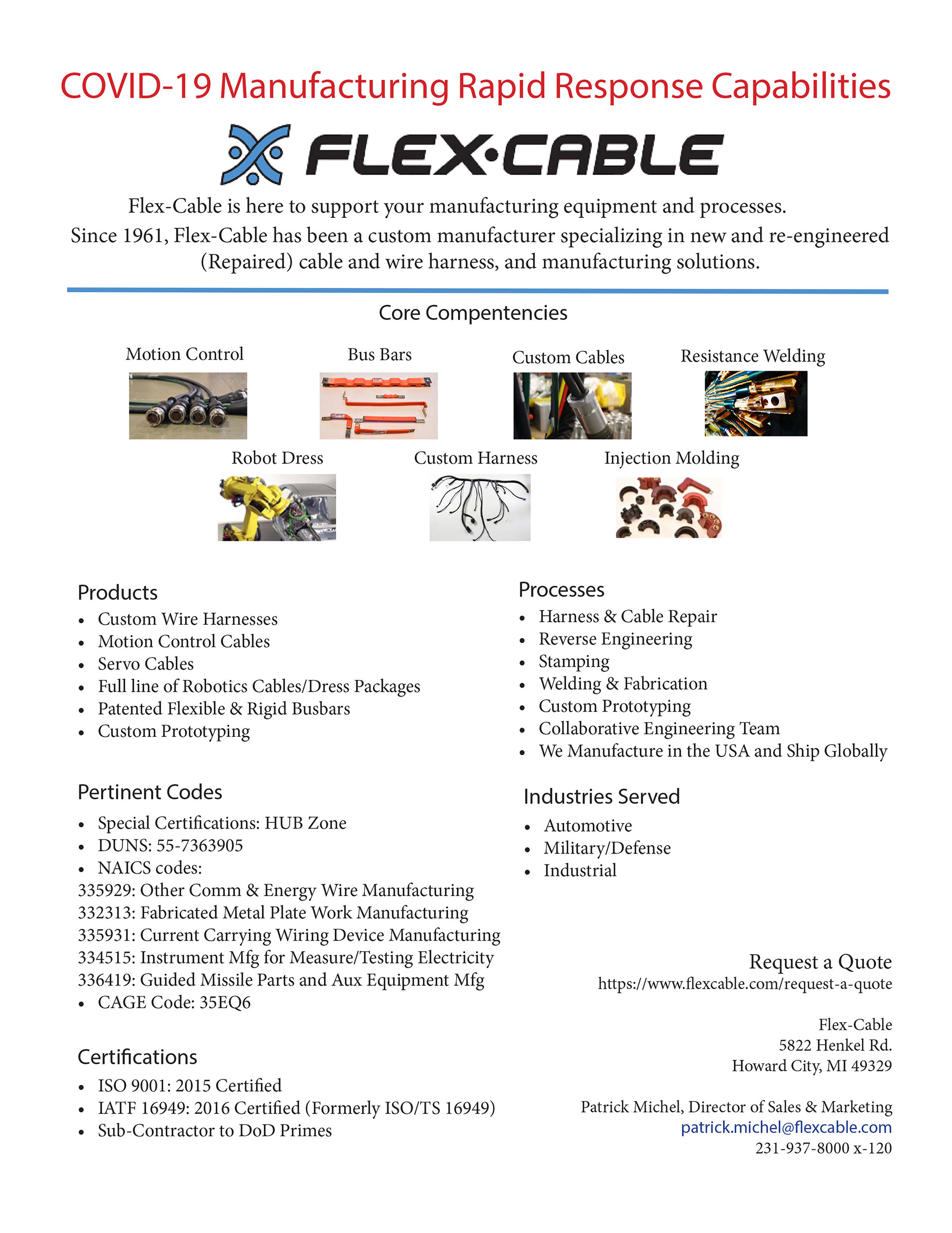 FlexCable COVID 19 Flyer
